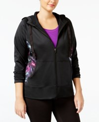 Ideology Plus Size Fleece Lined Hoodie Only At Macy's Noir