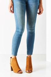 Urban Outfitters Suede Chelsea Heel Tan