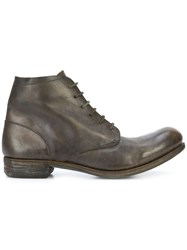 A Diciannoveventitre Lace Up Ankle Boots Horse Leather Leather Green