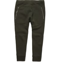 Neil Barrett Motorcycle Tapered Bonded Jersey Sweatpants Green