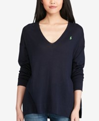 Polo Ralph Lauren V Neck Sweater Bright Navy