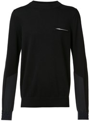 Sacai Long Sleeved T Shirt Black
