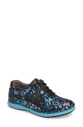 Alegria Women's Essence Lace Up Leather Oxford Icy Blooms Leather