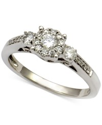 Macy's Diamond Round Cluster Ring 1 2 Ct. T.W. In 14K White Gold