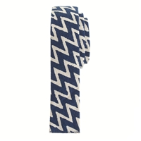J.Crew The Hill Side Cotton Tie In Zigzag Navy