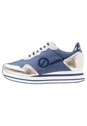 No Name Parko Record Trainers Navy Gold Dark Blue