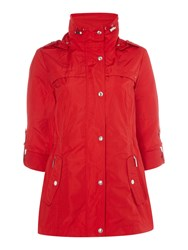 Weatherproof Anorak With Hood Red
