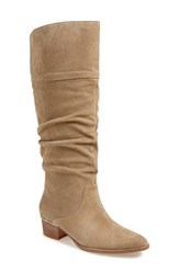 Women's Marc Fisher Ltd 'Regan' Slouch Knee High Boot Tan Suede