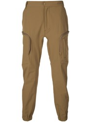 White Mountaineering Tapered Leg Cargo Trousers Brown