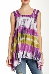 Angie Tie Dye Sharkbite Tank Juniors Multi