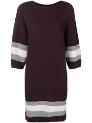 Lorena Antoniazzi Contrast Knitwear Dress Pink And Purple