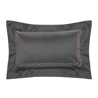 Pratesi Treccia Pillowcase Set Of 2 50X75cm Platinum Copper