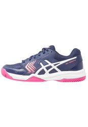 Asics Geldedicate 5 Clay Outdoor Tennis Shoes Indigo Blue White Diva Pink