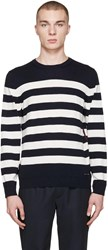 Burberry Navy Striped Seaborne Sweater