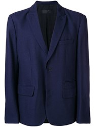 Haider Ackermann Classic Fitted Blazer Blue