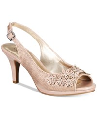 Karen Scott Bronaa Sling Back Pumps Only At Macy's Women's Shoes Nude