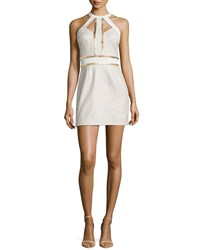 Sass And Bide You're Everywhere Dotted Metallic Dress Ivory