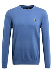 Lyle And Scott Crew Neck Jumper Storm Blue Marl Royal Blue