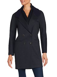 O'2nd Beegees Knit Collar Coat Black