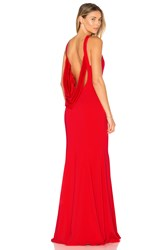 Jay Godfrey Armstrong Gown Red