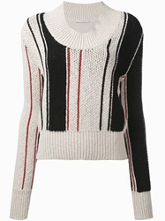 J.W.Anderson Scoop Stripe Jumper Women Cotton Spandex Elastane S Nude Neutrals