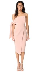 Misha Collection Romi Structured Midi Dress Blush Pink