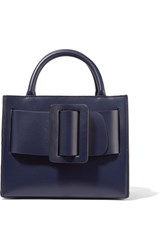 Boyy Bobby 23 Small Buckled Leather Tote Navy