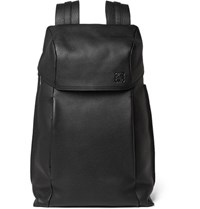 Loewe T Full Grain Leather Backpack Black