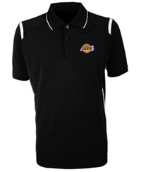 Antigua Los Angeles Lakers Merit Polo Shirt Black