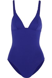 Eres Tropik Frangipani Braided Swimsuit Royal Blue