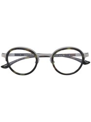 Giorgio Armani Camouflage Round Shaped Glasses Black