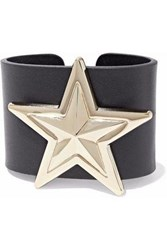 Red Valentino Embellished Leather Cuff Black