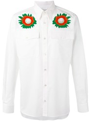 Stella Mccartney Lennon Shirt Men Silk Cotton 40 White