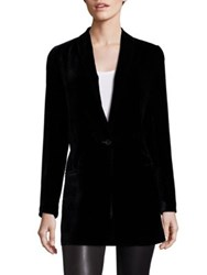 Saks Fifth Avenue Velvet Boyfriend Blazer Navy Black