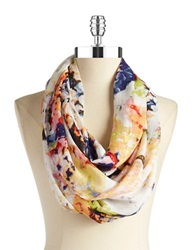 Lord And Taylor Floral Infinity Scarf Multi Colored