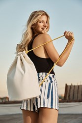 Urban Outfitters Canvas Drawstring Backpack Neutral