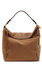 Vince Camuto Tatia Leather Hobo Bag Brown Mocha
