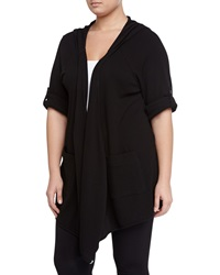 Marc Ny Performance Thermal Knit Wrap Cardigan Black