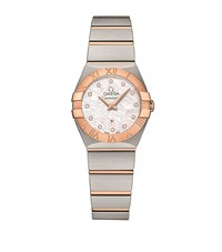 Omega Constellation Co Axial Watch Unisex White