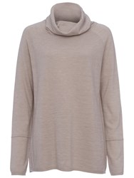 French Connection Angelina Cowl Neck Knit Top Light Oatmeal