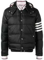 Thom Browne 4 Bar Matte Nylon Bomber Black