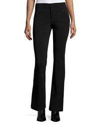 Rebecca Taylor Techy Slim Fit Boot Cut Pants Black Size 10