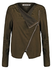 Noisy May Nmhouse Faux Leather Jacket Ivy Green Khaki