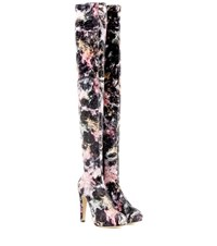 Charlotte Olympia Infinity And Beyond Printed Platform Over The Knee Boots Multicoloured