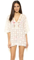 Blue Life Tribal Beach Tunic White Sands