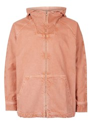 Topman Pink Cropped Denim Parka