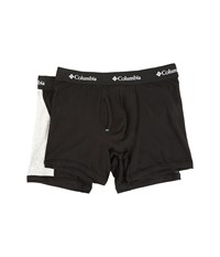 Columbia Cotton Stretch Color Block 2 Pack Black Grey Heather Men's Underwear Gray