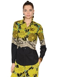 Etro Floral Print Stretch Cotton Poplin Shirt