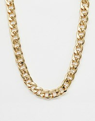 Reclaimed Vintage Inspired Gold Plated Chain Necklace