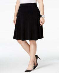 Alfani Plus Size Fit And Flare Skirt Only At Macy's Deep Black